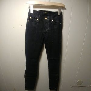 7For All Mankind Black Logo Pants
